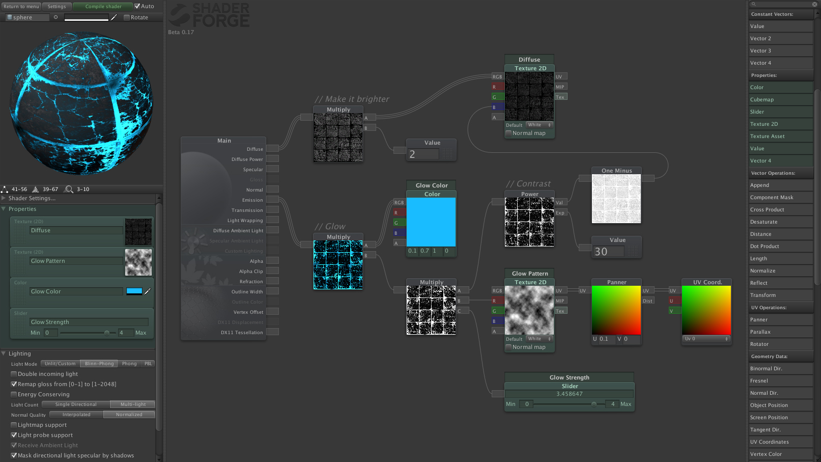 Color unity examples - Shader Forge